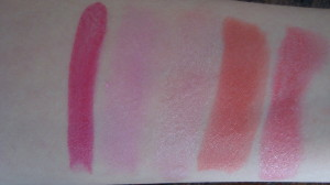 DSC05488 300x168 - MUA vijf kleuren Lipstick Review + Swatches