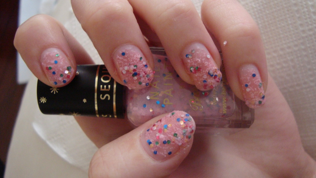 DSC07308 1024x576 - Barry M Sequin Nail Effects Pink 315 Glitternagellak