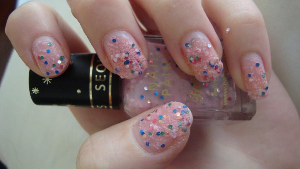 DSC07309 1024x576 - Barry M Sequin Nail Effects Pink 315 Glitternagellak