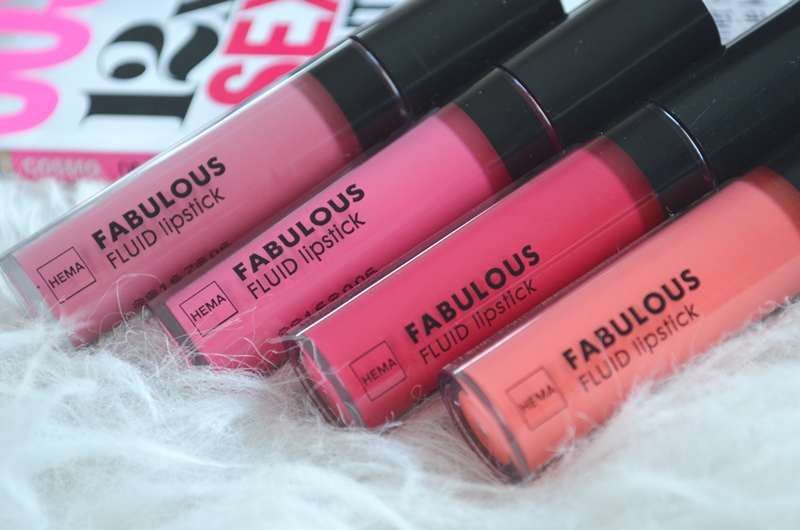 Nieuwe HEMA Fluid Lipsticks Swatches & Review