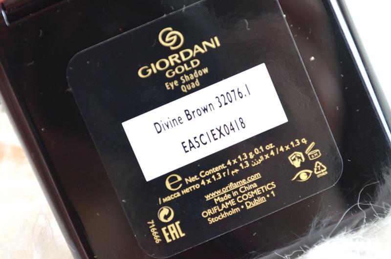 DSC 5296 - Oriflame Giordani Gold Eye Shadow Quads Kerst 2015 Review