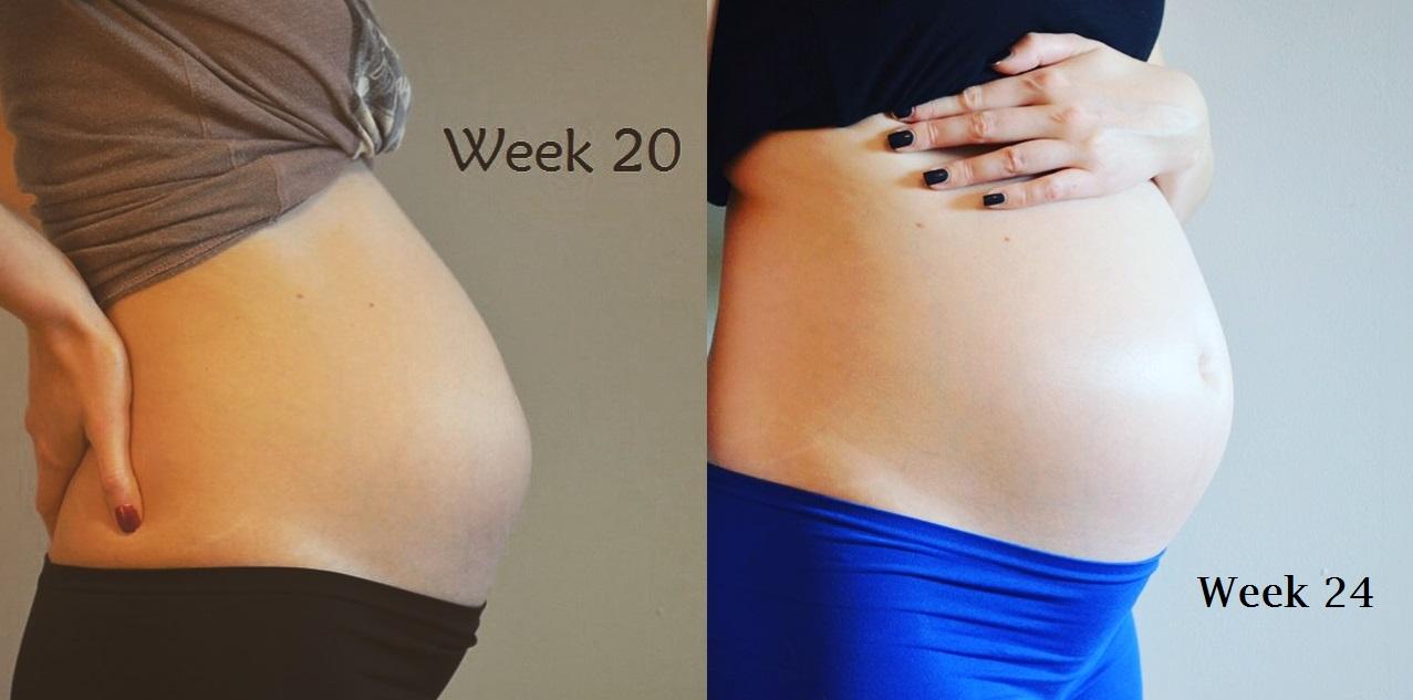 Buikfoto Evolutie Elisejoanne.nl Week 20 24 - De Evolutie van mijn Zwangere Buik van Week 4 - Week 37
