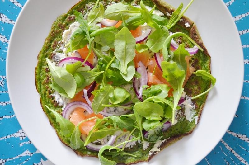 Spinaziepannenkoekjes met Gerookte Zalm