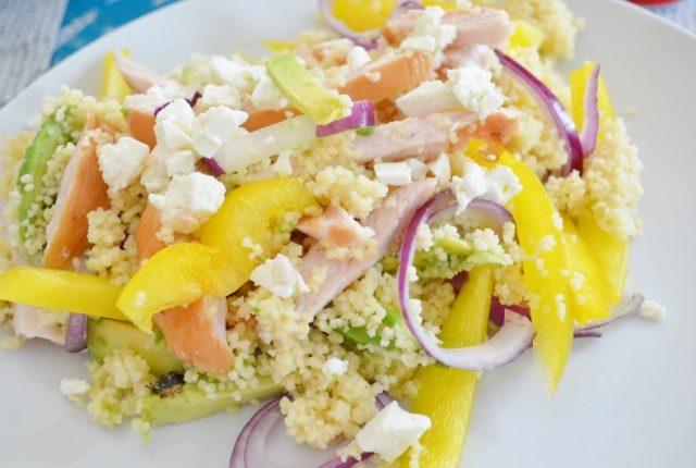 Snelle & Makkelijke Couscous Salade met Gerookte Kip
