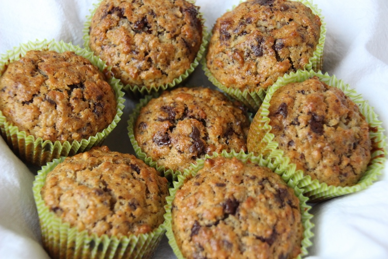 Sanne's Baksels - Banaan Havermout Muffins (met Chocolate Chip!)