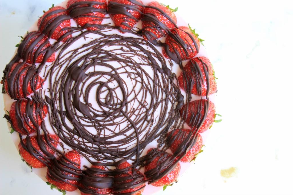 Sanne's Baksels - Aardbeien & Chocolade Kwarktaart
