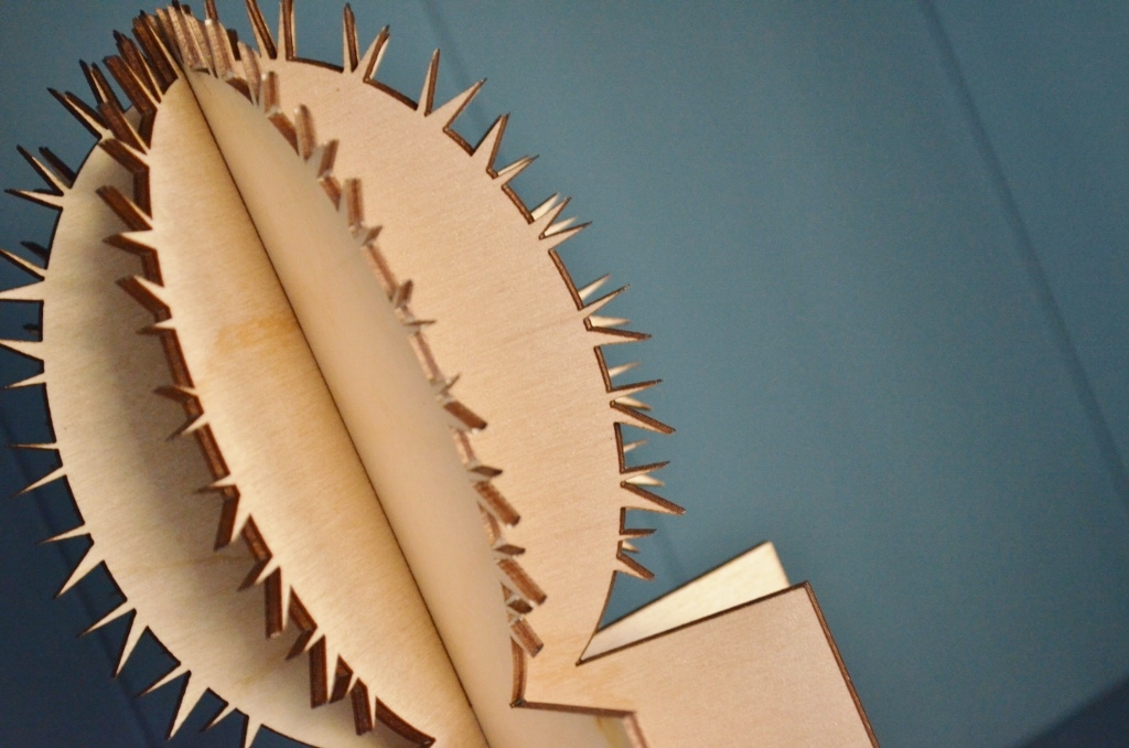 Houten cactussen / woondecoratie gemaakt met een lasersnijder