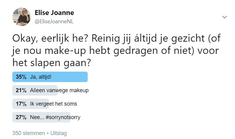 Twitter uitslag Silk Elisejoanne.nl 764x454 - Eerlijk he, reinig jij altijd elke avond je gezicht?