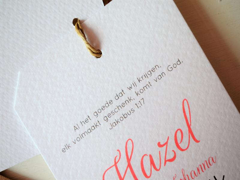 Het Geboortekaartje van Hazel
