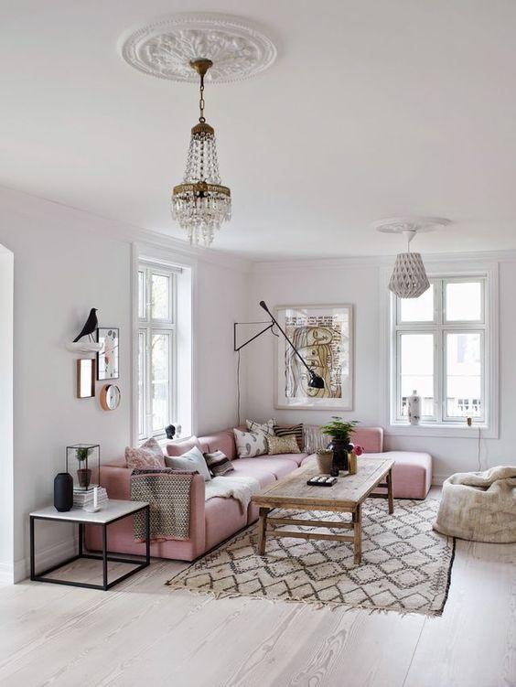Roze - Nieuwe woonkamer inspiratie; banken!
