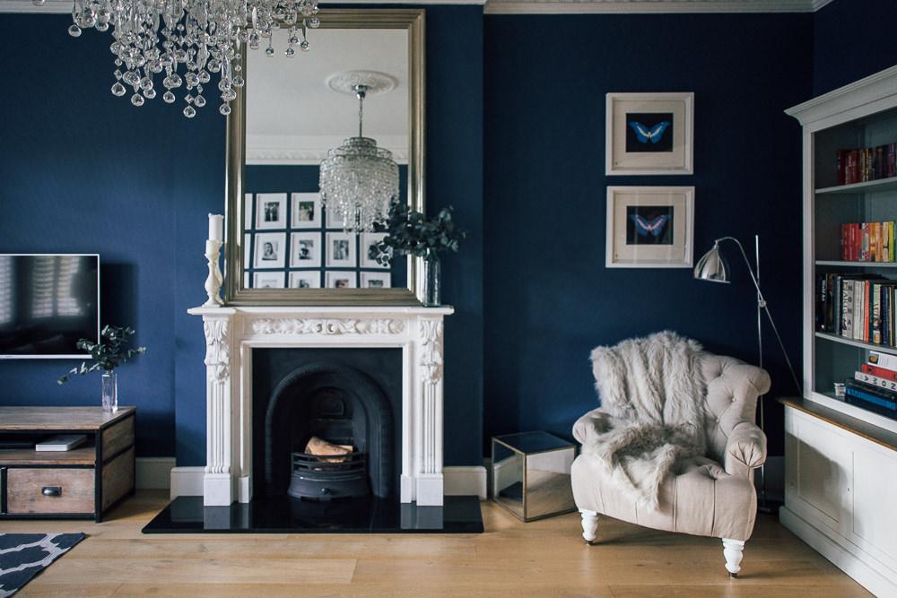 Stiffkey Blue Farrow Ball - Onze nieuwe meubelen, verf & behang voor rond de 'keuken'.