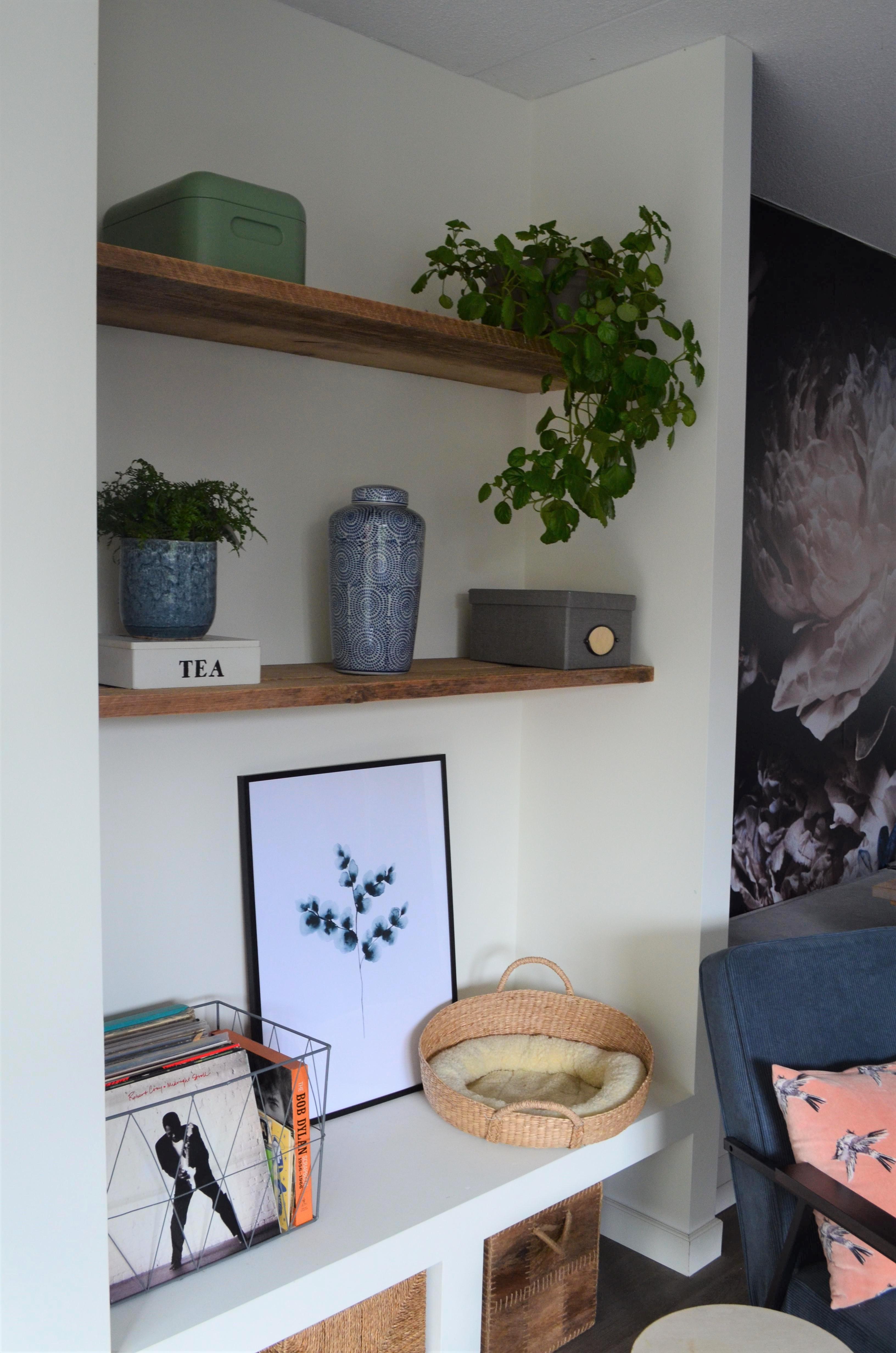 Een mini groene make-over in onze woonkamer!