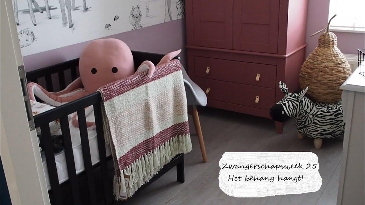 Still weekvlog 25 - Vlog Zwangerschapsweek 25 - Het behang in de babykamer hangt! HET IS ZO MOOI!